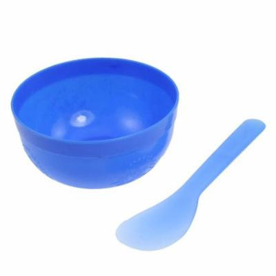 Women Blue DIY Facial Mask Container Mixing Stick Set
