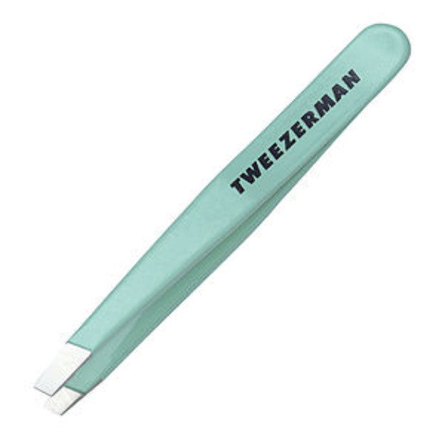 Tweezerman Mini Slant Tweezer Green Tea