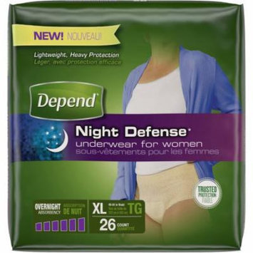 Depend Night Defense Incontinence Overnight Underwear for Women, Extra Large, 26 count