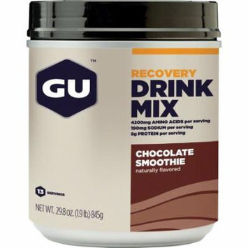 GU Recovery Brew Drink Mix: Chocolate, 14 Serving Canister
