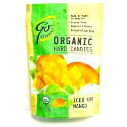 Go Naturally - Organic Hard Candies Iced Mint Mango - 3.5 oz.