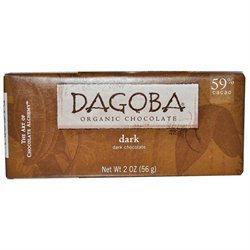 Dagoba Organic Chocolate 25052 Organic Dark Chocolate Bar 59 Percent