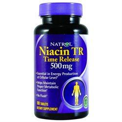 Niacin TR 500 mg Time Release 100 Tablets, Natrol