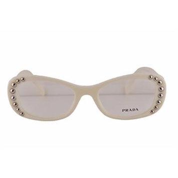 Prada PR21RV Eyeglasses 51-19-140 Ivory White 7S31O1 VPR21R For Women (FRAME ONLY)
