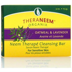 Organix South Inc Theraneem Oatmeal & Lavender Cleansing Bar - 4 Ounces Bar Soap - Soaps