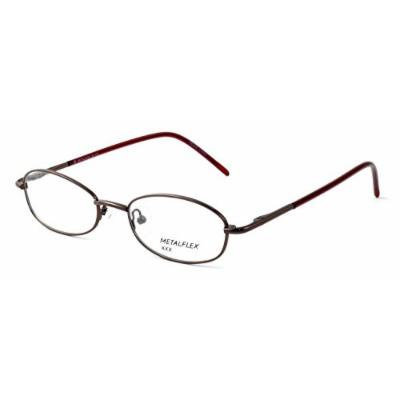Calabria Kids Fit MetalFlex U Pewter Designer Eyeglasses XX in Brown ; Demo Lens