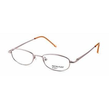 Calabria Kids Fit MetalFlex U Pewter Designer Eyeglasses 1001 in Pink ; Demo Lens