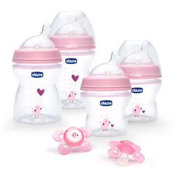 Chicco Stage 1 NaturalFit Deco Gift Set - Pink