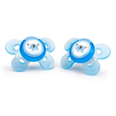 Chicco 0+ Month 2 Pack Comfort Sheild Orthodontic Pacifier - Blue