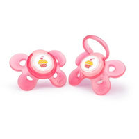 Chicco 4+ Month 2 Pack Comfort Shield Orthodontic Pacifier - Pink