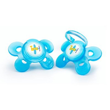 Chicco 4+ Month 2 Pack Comfort Shield Orthopedic Pacifier - Blue