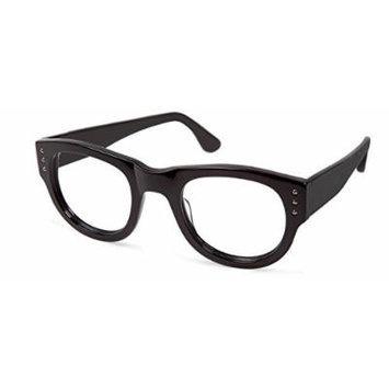 Cynthia Rowley No. 78 Black Round Plastic Eyeglasses