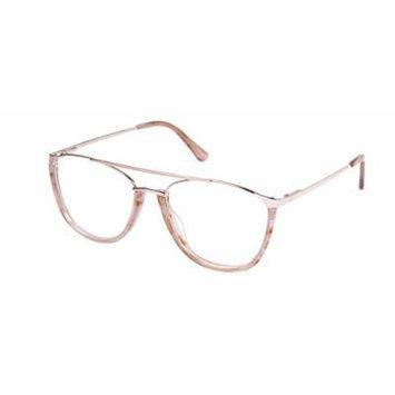 Cynthia Rowley No. 76 Blush Aviator Metal Eyeglasses