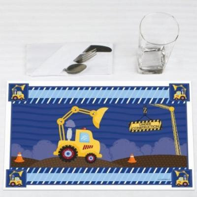 Construction Truck - Party Placemats - Set of 12