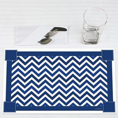 Chevron Navy - Party Placemats - Set of 12