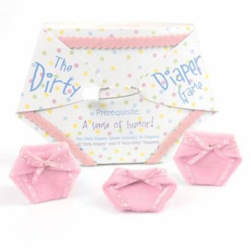 The Dirty Diaper Game - Baby Shower Game - Pink (10 diapers)