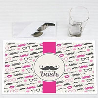 Pink Mustache Bash - Party Placemats - Set of 12