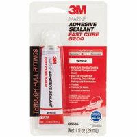3M Marine Adhesive Sealant 5200 Fast Cure White, PN06535, 1 oz Tube, 12 per case