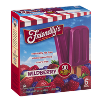 Friendly's Fruit Bars Wildberry - 6 CT