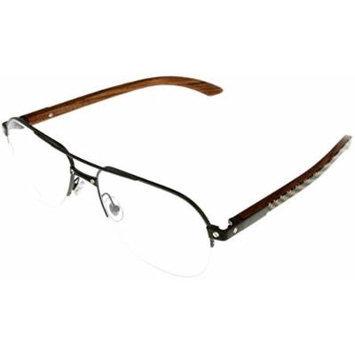 Cartier Prescription Eyeglasses Frame Titanium/Wood Unisex Aviator EYE00056