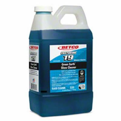 Betco 53547-00 FastDraw 19 Green Earth Glass Cleaner - 2 Liter