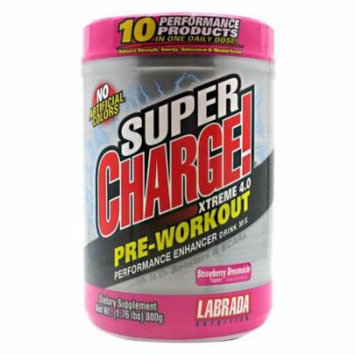 Labrada Nutrition Super Charge Xtreme 4.0 Strawberry Dreamsicle - 1.76 lbs
