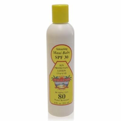 Maui Babe SPF 30 Sunscreen Lotion 8 Ounces - Water Resistant UVA/UVB Sunblock