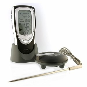Oregon Scientific PROAW132 Grill Right Wireless Talking BBQ/Oven Thermometer