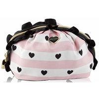 Betsey Johnson Women's Mini Ruffle Cosmetic Bag, Blush