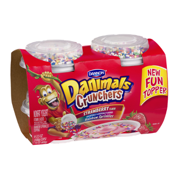 Danimals® Crunchers Strawberry With Rainbow Sprinkles Nonfat Yogurt