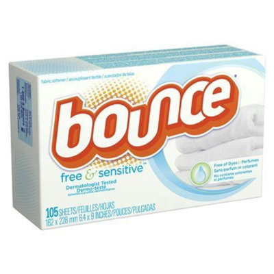 Bounce Free and Gentle Unscented Dryer Sheets - 105 Count