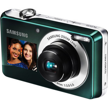 Samsung DualView TL205 Green 12.2MP Digital Camera w/ 3x Optical Zoom, 2.7