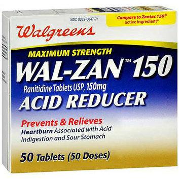 Walgreens Wal-Zan 150 Acid Reducer Tablets Maximum Strength