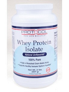 Whey Protein Isolate 2 lbs by Protocol For Life Balance