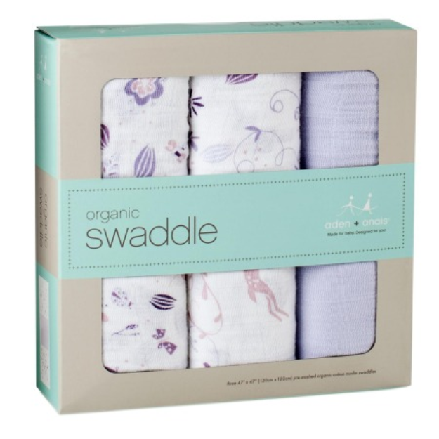 Aden + Anais Organic Swaddler 3 Pack, Once Upon a Time, 1 ea