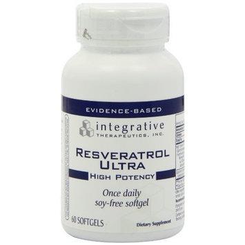 Integrative Therapeutic's Integrative Therapeutics Resveratrol High Potency, 60 Softgels