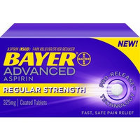 Bayer Advanced Aspirin Regular Strength, 325mg, 24 Coated Tablets, (Pack of 2)