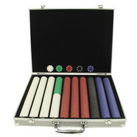Trademark Global Games Trademark Global Suited Chips in Silver Aluminum Case