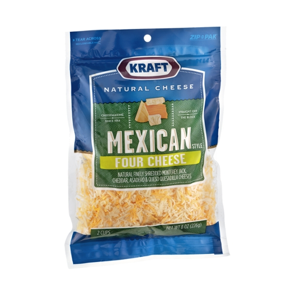 Kraft Mexican Style Finely Shredded Four Cheese