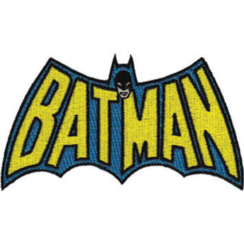 C & D Visionary Incorporated DC Comics Super Hero Patches Iron-On Applique Patch, Batman Insignia