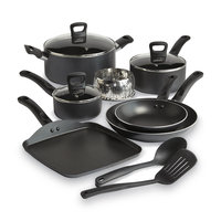 T-fal Corporation T-fal 12-Pc Stainless Steel Non-Stick Set, Banquet Gray