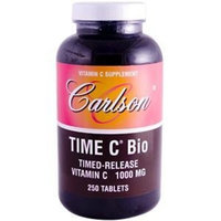 Carlson Labs Time-C-Bio Vitamin C with Bioflavonoids, Time Release, 1000mg, 250 Tablets