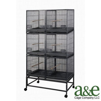 A & E Cages AE-LOR4020-3 Six Unit Breeding Bird Cage