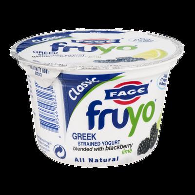 Fage Fruyo Greek Strained Yogurt with Blackberry Lime