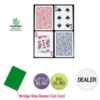 Trademark Poker Copag Bridge Size PLASTIC Playing Cards & Dealer Kit