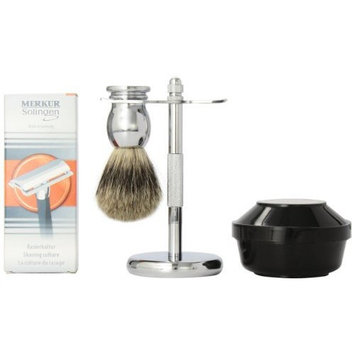 Simplybeautiful Simply Beautiful Shaving Gift Set with Merkur Razor, Stand, Brush, and Omega Soap