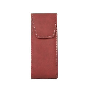 California Accessories Burgandy Suede Faux Leather Eyeglass Case