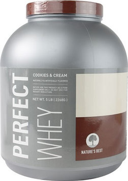 tures Best Nature's Best Perfect Whey Protein Cookies & Cream 5 lbs