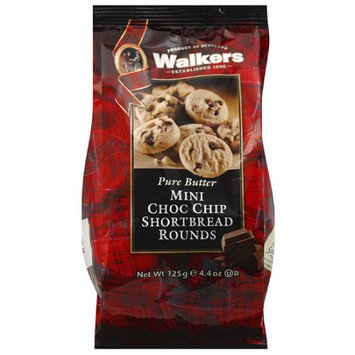 Generic Walkers Pure Butter Mini Chocolate Chip Shortbread Rounds, 4.4 oz, (Pack of 6)