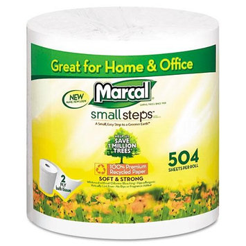 Marcal Small Steps Premium Two-Ply Bath Tissue, White, 2-ply, Made